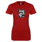 Next Level Ladies SoftStyle Junior Fitted Cardinal Tee-Amcat Head