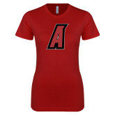 Next Level Ladies SoftStyle Junior Fitted Cardinal Tee-A