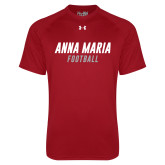 Under Armour Cardinal Tech Tee-Football Wordmark