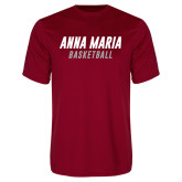 Performance Cardinal Tee-Basketball Wordmark