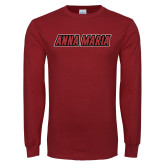 Cardinal Long Sleeve T Shirt-Wordmark