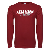Cardinal Long Sleeve T Shirt-Lacrosse Wordmark