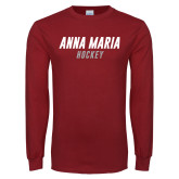 Cardinal Long Sleeve T Shirt-Lacrosse Hockey