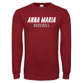 Cardinal Long Sleeve T Shirt-Baseball Wordmark