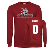 Cardinal Long Sleeve T Shirt-Primary Mark, Custom Tee w/ Name and #