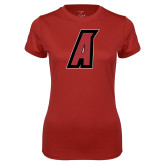 Ladies Syntrel Performance Cardinal Tee-A