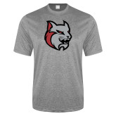 Performance Grey Heather Contender Tee-Amcat Head