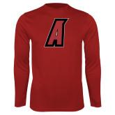 Performance Cardinal Longsleeve Shirt-A