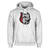White Fleece Hoodie-Amcat Head