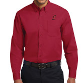 Cardinal Twill Button Down Long Sleeve-A