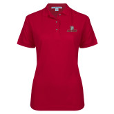 Ladies Easycare Cardinal Pique Polo-Primary Mark
