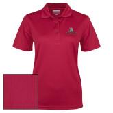 Ladies Cardinal Dry Mesh Polo-Primary Mark