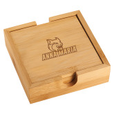 Bamboo Coaster Set-Primary Mark Engraved