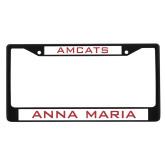 Metal License Plate Frame in Black-Amcats