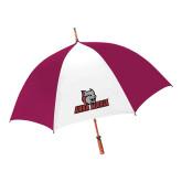 62 Inch Cardinal/White Umbrella-Primary Mark