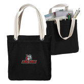Allie Black Canvas Tote-Primary Mark