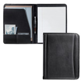 Millennium Black Leather Writing Pad-Greek Letters Debossed