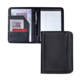 Millenium Black Leather Jr. Writing Pad-Greek Letters Debossed