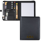Carbon Fiber Tech Padfolio-Greek Letters Outlined