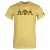 Champion Vegas Gold T Shirt-Greek Letters Outlined