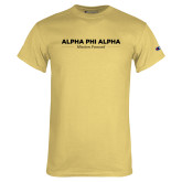 Champion Vegas Gold T Shirt-Alpha Phi Alpha Mission Focused Stacked