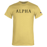 Champion Vegas Gold T Shirt-Alpha