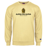 Champion Vegas Gold Fleece Crew-Alpha Phi Alpha Mission Focused