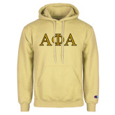 Champion Vegas Gold Fleece Hoodie-Greek Letters Outlined