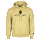 Champion Vegas Gold Fleece Hoodie-Alpha Phi Alpha Mission Focused