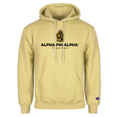 Champion Vegas Gold Fleece Hoodie-Alpha Phi Alpha YOUR Chapter