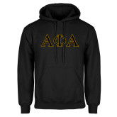 Black Fleece Hoodie-Greek Letters Outlined