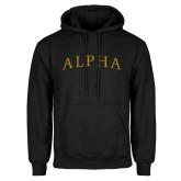 Black Fleece Hoodie-Alpha Arched