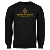 Black Fleece Crew-Alpha Phi Alpha Mission Focused