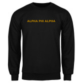 Black Fleece Crew-Alpha Phi Alpha