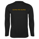 Syntrel Performance Black Longsleeve Shirt-Alpha Phi Alpha