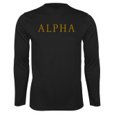 Syntrel Performance Black Longsleeve Shirt-Alpha