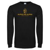 Black Long Sleeve TShirt-Alpha Phi Alpha Mission Focused