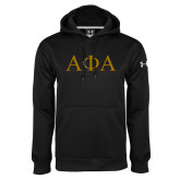 Under Armour Black Performance Sweats Team Hoodie-Greek Letters