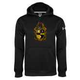 Under Armour Black Performance Sweats Team Hoodie-Crest