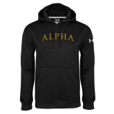 Under Armour Black Performance Sweats Team Hoodie-Alpha Arched