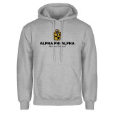 Grey Fleece Hoodie-Alpha Phi Alpha Mission Focused