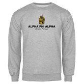 Grey Fleece Crew-Alpha Phi Alpha Mission Focused