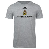 Adidas Sport Grey Logo T Shirt-Alpha Phi Alpha Mission Focused