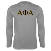 Syntrel Performance Steel Longsleeve Shirt-Greek Letters Outlined