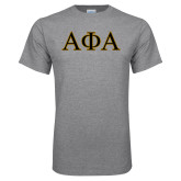 Grey T Shirt-Greek Letters Outlined