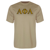 Performance Vegas Gold Tee-Greek Letters Outlined