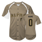 Replica Vegas Gold Adult Baseball Jersey-Personalized