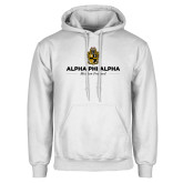 White Fleece Hoodie-Alpha Phi Alpha Mission Focused