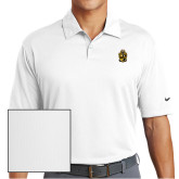 Nike Dri Fit White Pebble Texture Sport Shirt-Crest