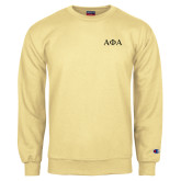 Champion Vegas Gold Fleece Crew-Greek Letters